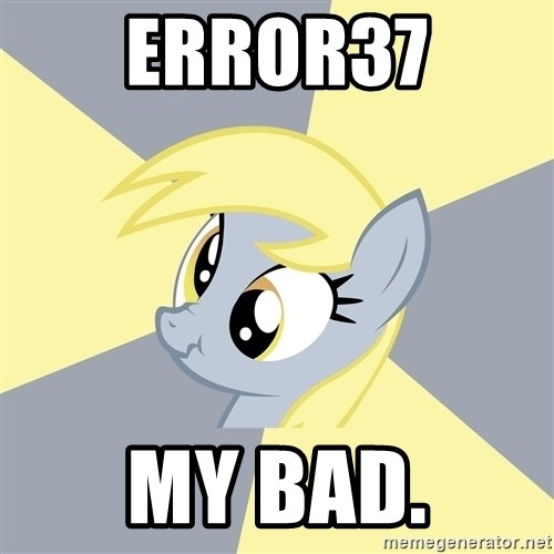 Badvice Derpy - Error37 My Bad.