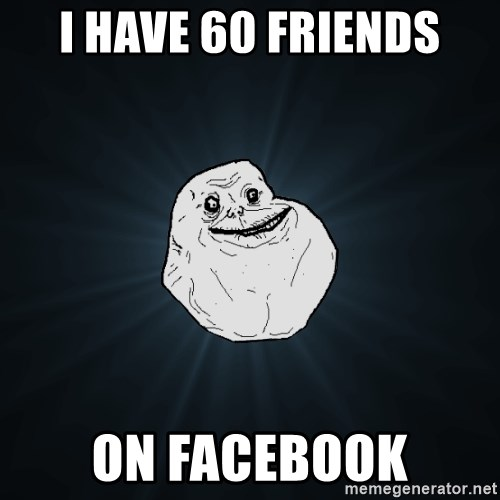 Forever Alone - I have 60 friends on facebook