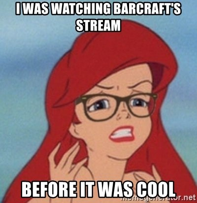 Hipster Ariel- - I was watching barcraft's stream before it was cool