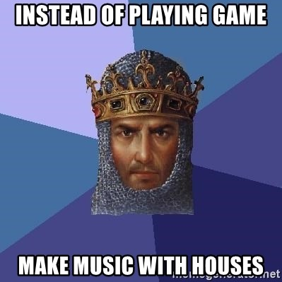Age Of Empires - instead of playing game make music with houses