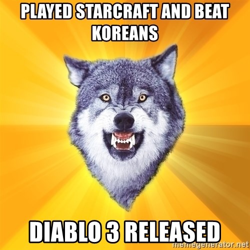 Courage Wolf - played starcraft and beat koreans diablo 3 released