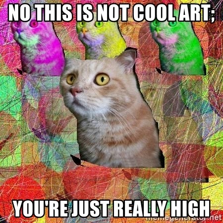 A Cat - no this is not cool art; you're just really high