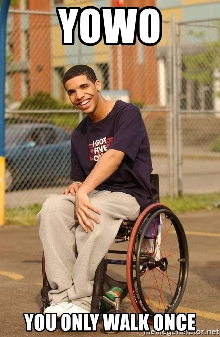 Drake Wheelchair - YOWO you only walk once