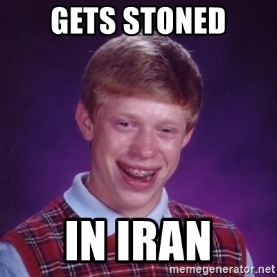 Bad Luck Brian - Gets Stoned In Iran