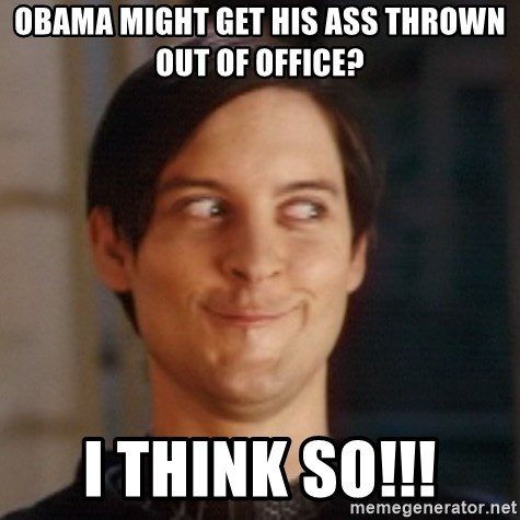 Peter Parker Spider Man - obama might get his ass thrown out of office? i think so!!!
