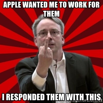 Angry Linus - Apple wanted me to work for them i responded them with this