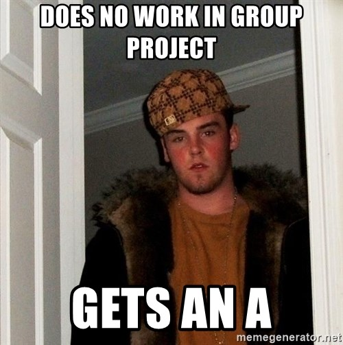 Scumbag Steve - Does no work in group project gets an A