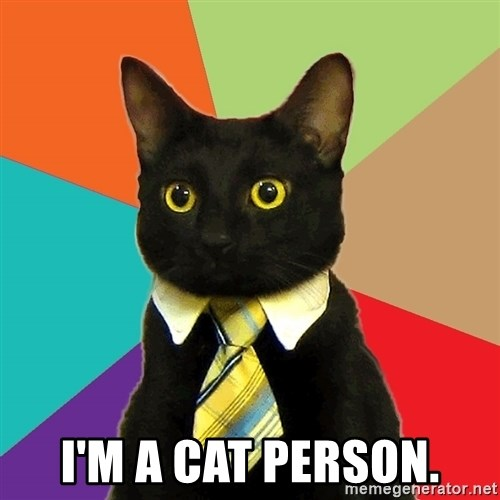 Business Cat - I'M A CAT PERSON.