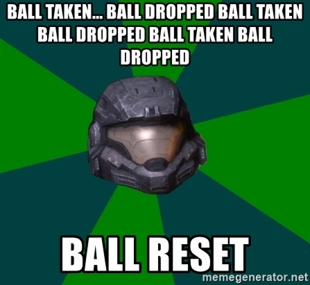 Halo Reach - ball taken... ball dropped ball taken ball dropped ball taken ball dropped ball reset