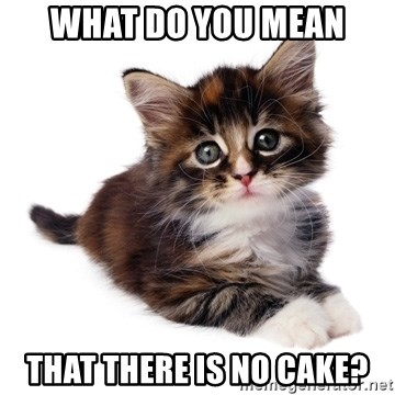 fyeahpussycats - what do you mean that there is no cake?