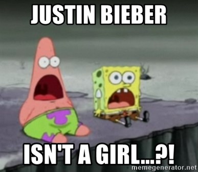 Spongebob - Justin bieber isn't a girl...?!