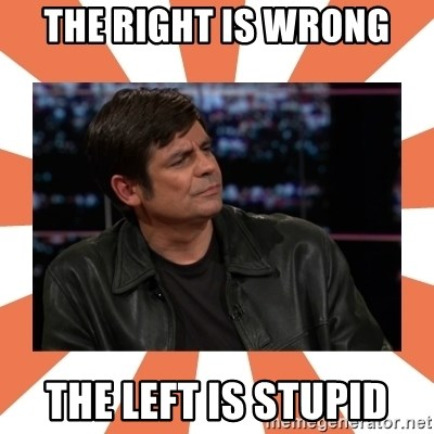 Gillespie Says No - the right is wrong the left is stupid