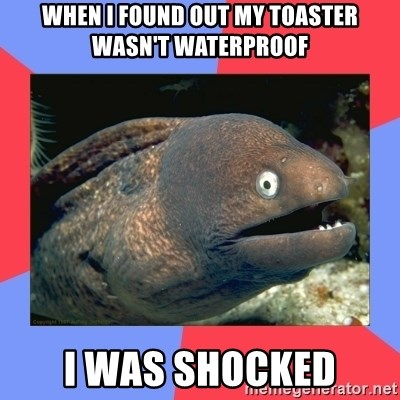 Bad Joke Eels - when I found Out My Toaster Wasn't WaterProof I Was Shocked
