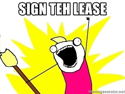 X ALL THE THINGS - Sign teh lease