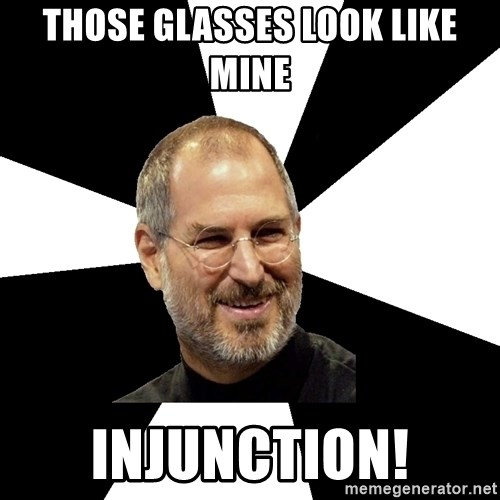 Steve Jobs Says - Those glasses look like mine INJUNCTION!