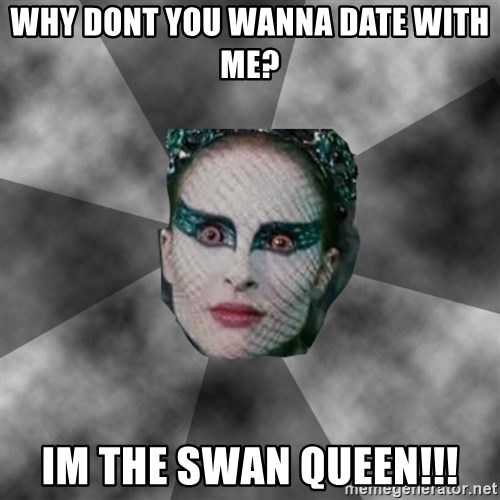 Black Swan Eyes - why dont you wanna date with me? im the swan queen!!!