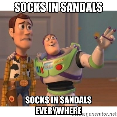 Toy story - Socks In Sandals socks in sandals everywhere