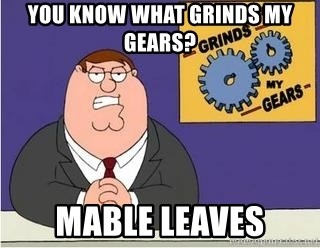 Grinds My Gears Peter Griffin - YOU KNOW WHAT GRINDS MY GEARS? MABLE LEAVES