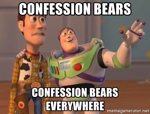 Tseverywhere - Confession Bears cONfession bears everywhere