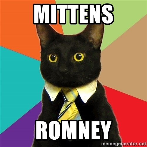 Business Cat - Mittens Romney