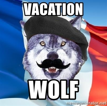 Monsieur Le Courage Wolf - Vacation Wolf