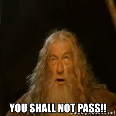 Gandalf You Shall Not Pass - You SHALL NOT PASS!!