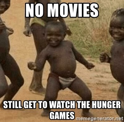 Success African Kid - No movies still get to watch the hunger games
