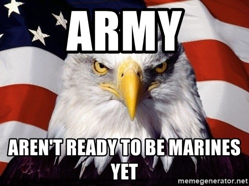 American Pride Eagle - army aren't Ready to be marines yet