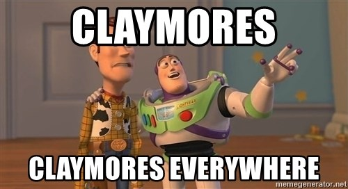 ORIGINAL TOY STORY - Claymores claymores everywhere