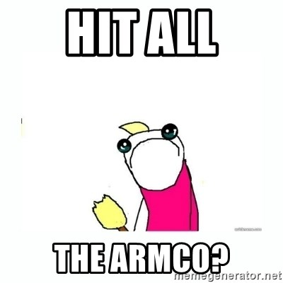 sad do all the things - HIT ALL the armco?