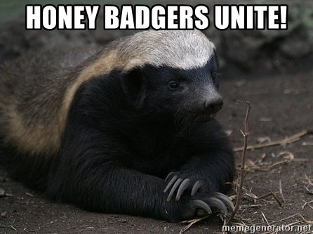 Honey Badger - HONEY BADGERS UNITE!