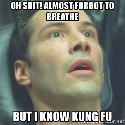 i know kung fu - OH SHIT! ALMOST FORGOT TO BREATHE BUT I KNOW KUNG FU