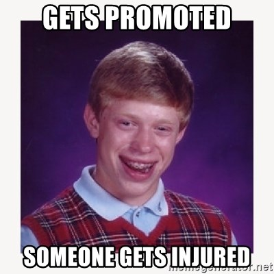 nerdy kid lolz - gets promoted someone gets injured