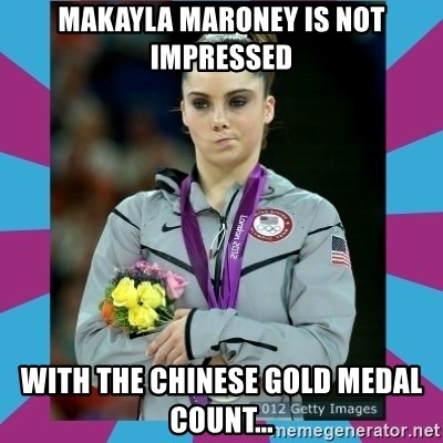 Makayla Maroney  - Makayla Maroney is not impressed With the Chinese Gold medal count...