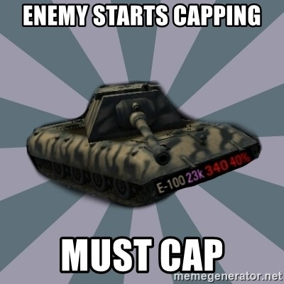 TERRIBLE E-100 DRIVER - enemy starts capping must cap