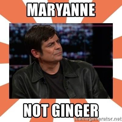 Gillespie Says No - maryanne not ginger