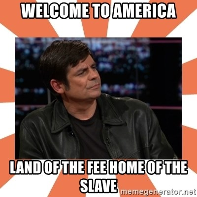 Gillespie Says No - welcome to america land of the fee home of the slave