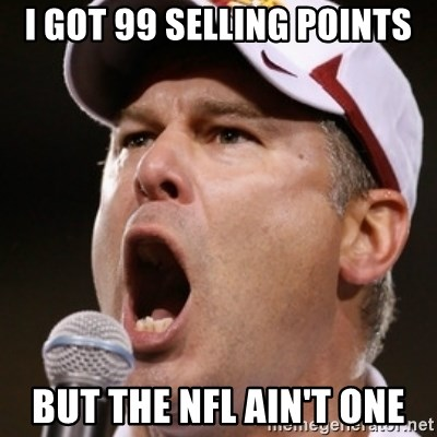 Pauw Whoads - i got 99 selling points but the nfl ain't one