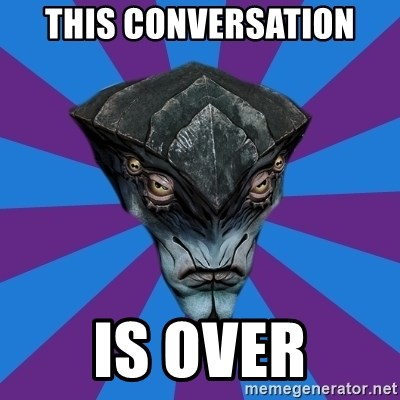 Javik the Prothean - this conversation is over