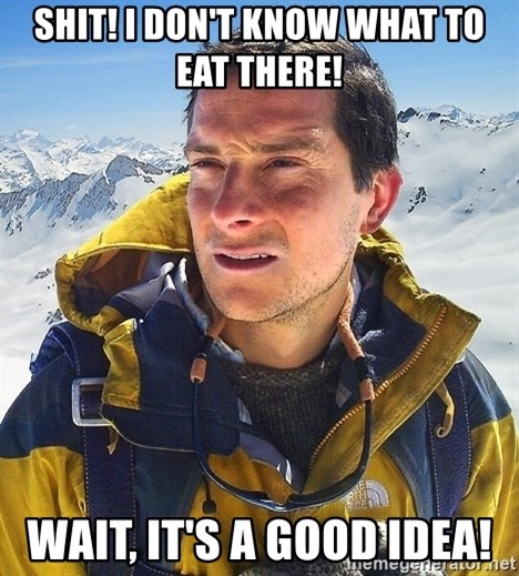 Bear Grylls Loneliness - SHIT! I DON'T KNOW WHAT TO EAT THERE! WAIT, IT'S A GOOD IDEA!