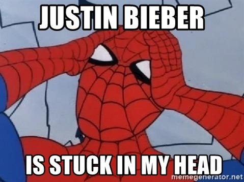 Spider Man - justin bieber  is stuck in my head