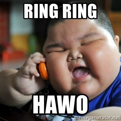 fat chinese kid - RING RING  HAWO