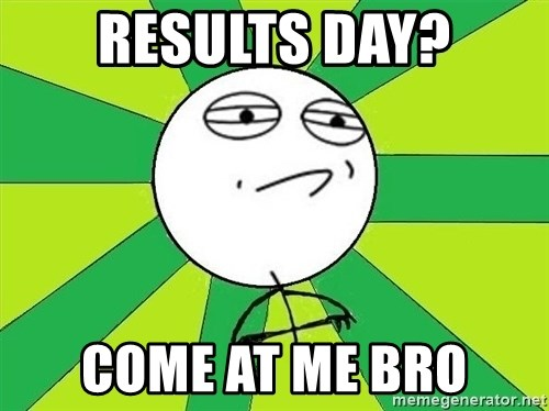 Challenge Accepted 2 - Results day? Come at me bro