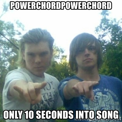 god of punk rock - POWERCHORDPOWERCHORD only 10 seconds into song