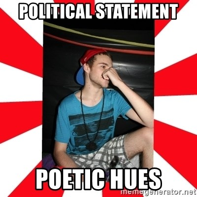 Raurie Brown - political statement poetic hues