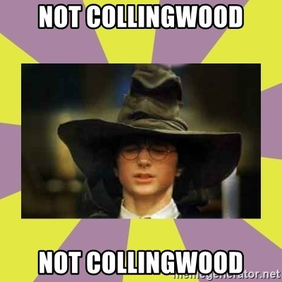 Harry Potter Sorting Hat - Not Collingwood Not collingwood