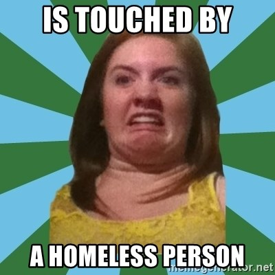Disgusted Ginger - Is touched by a homeless person
