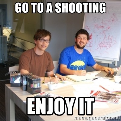 Naive Junior Creatives - Go to a shooting enjoy it