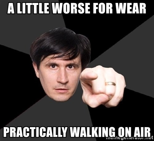 John Darnielle - a little worse for wear practically walking on air
