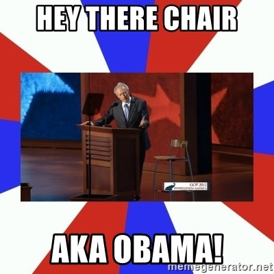 Invisible Obama - Hey there chair aka obama!